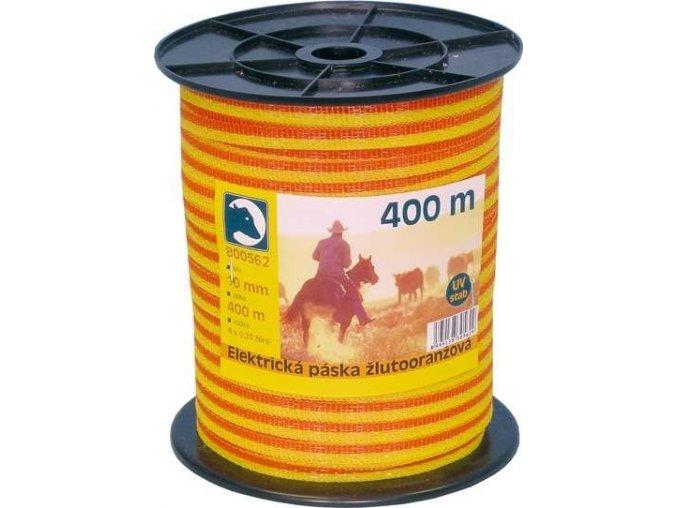 Páska žlutooranž. 1cm 400m