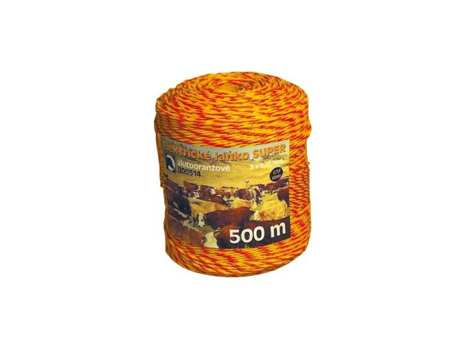 Lanko žlutotoranžové 3mm 500m