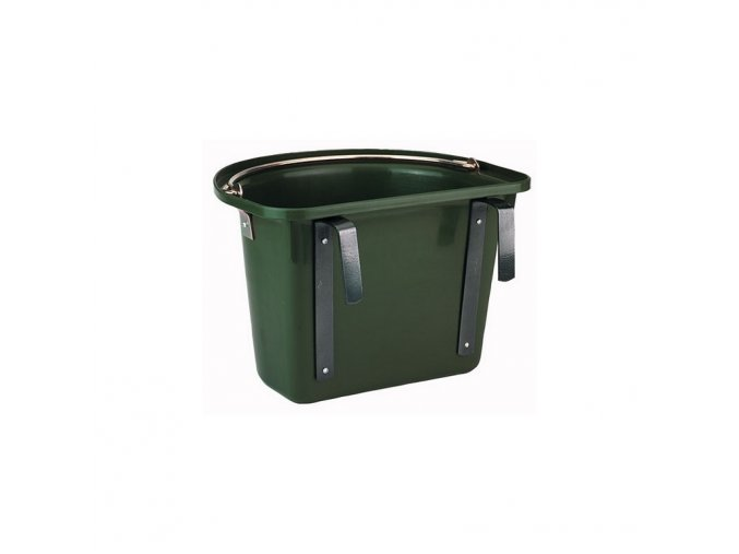 Žlab závěsný s držáky zelený