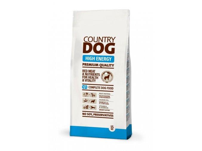 COUNTRY DOG High Energy 15 kg - pro dospělé psy ve zvýšené zátěži