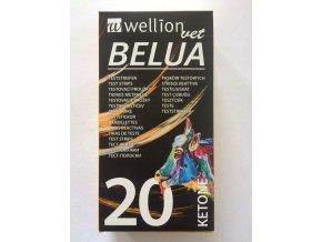 Ketonové testovací proužky WellionVet Belua 20 ks