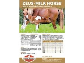ZEUS HORSE MILK ETIKETA
