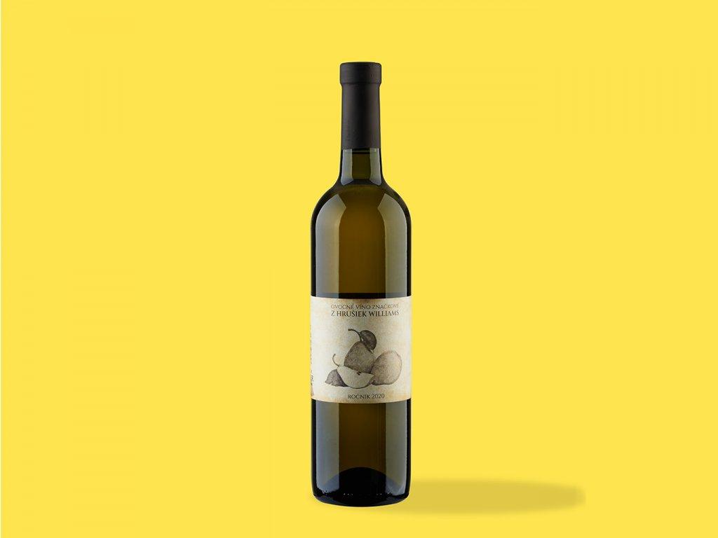 Ovocné víno z Hrusiek williams hrehor ZeZahora lokalne potraviny