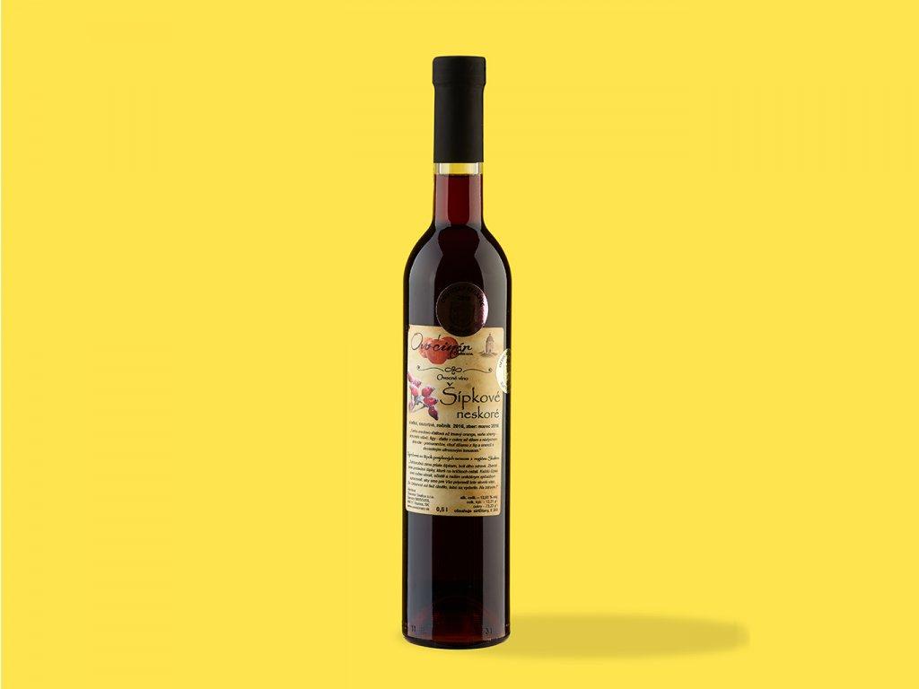 Ovocné víno sipkove neskore hrehor ZeZahora lokalne potraviny