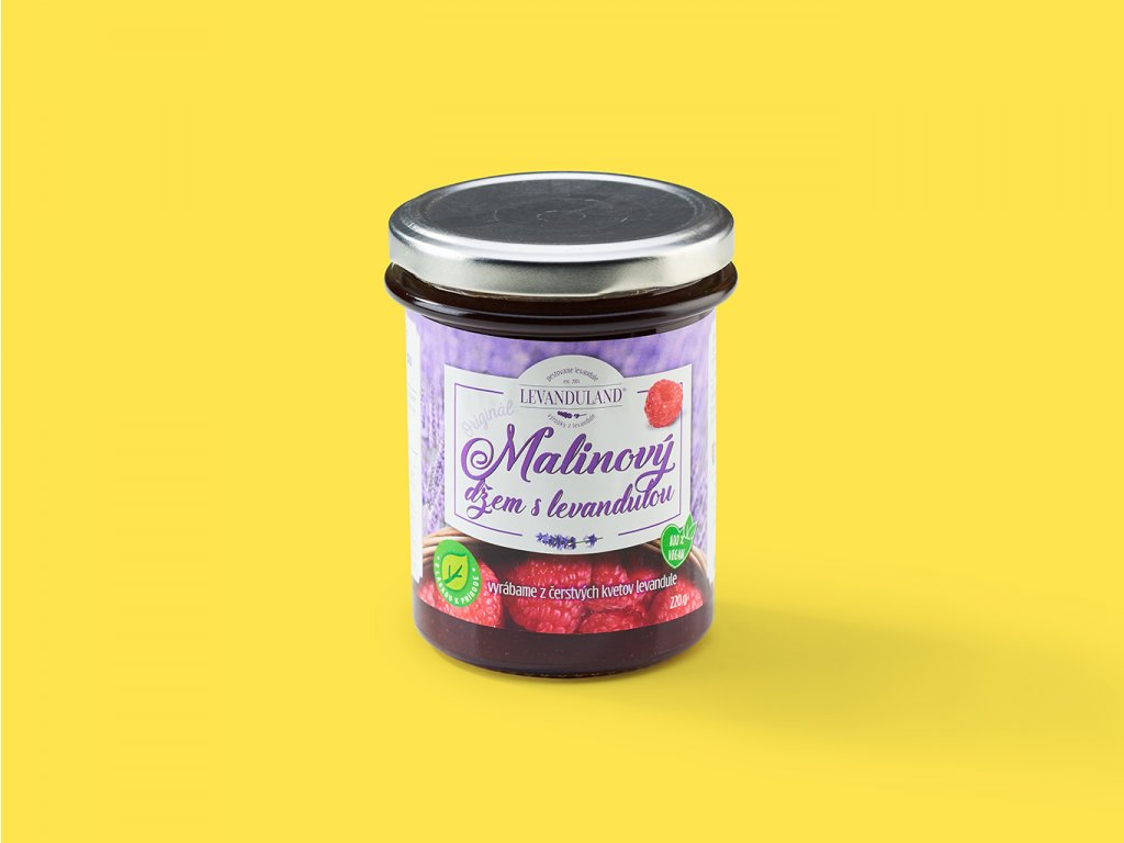 Malinovy dzem s levandulou ZeZahora lokalne potraviny