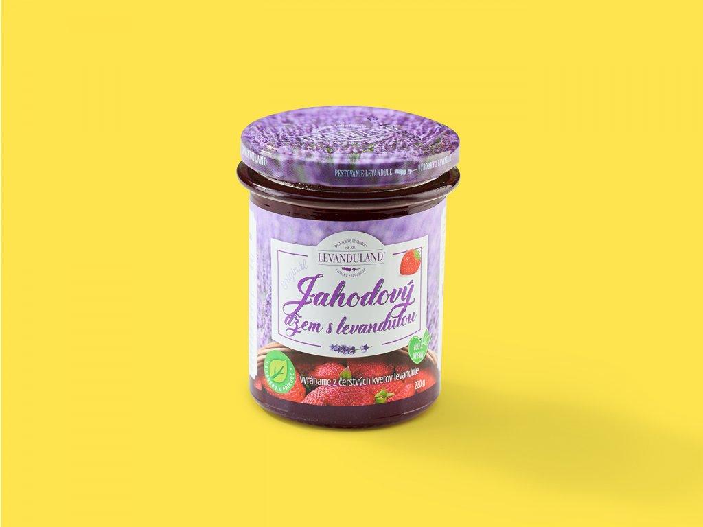 Jahodovy dzem s levandulou ZeZahora lokalne potraviny