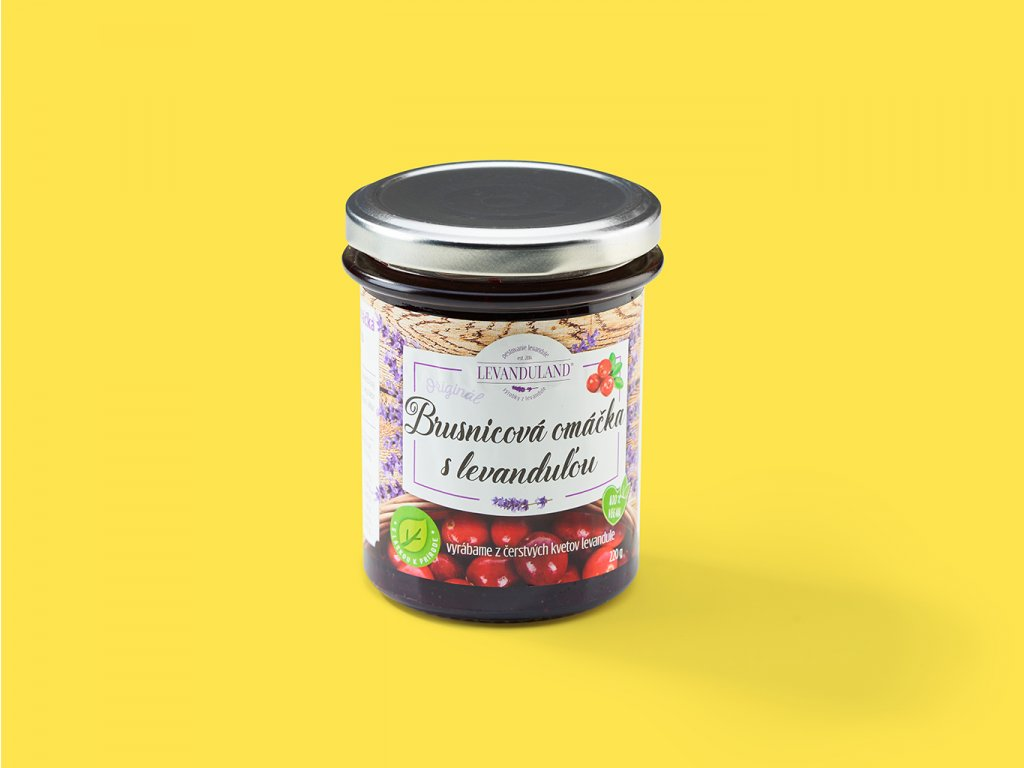 Brusnicova omacka s levandulou ZeZahora lokalne potraviny