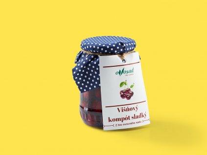 Visnovy kompot sladky ovosad ZeZahora lokalne potraviny