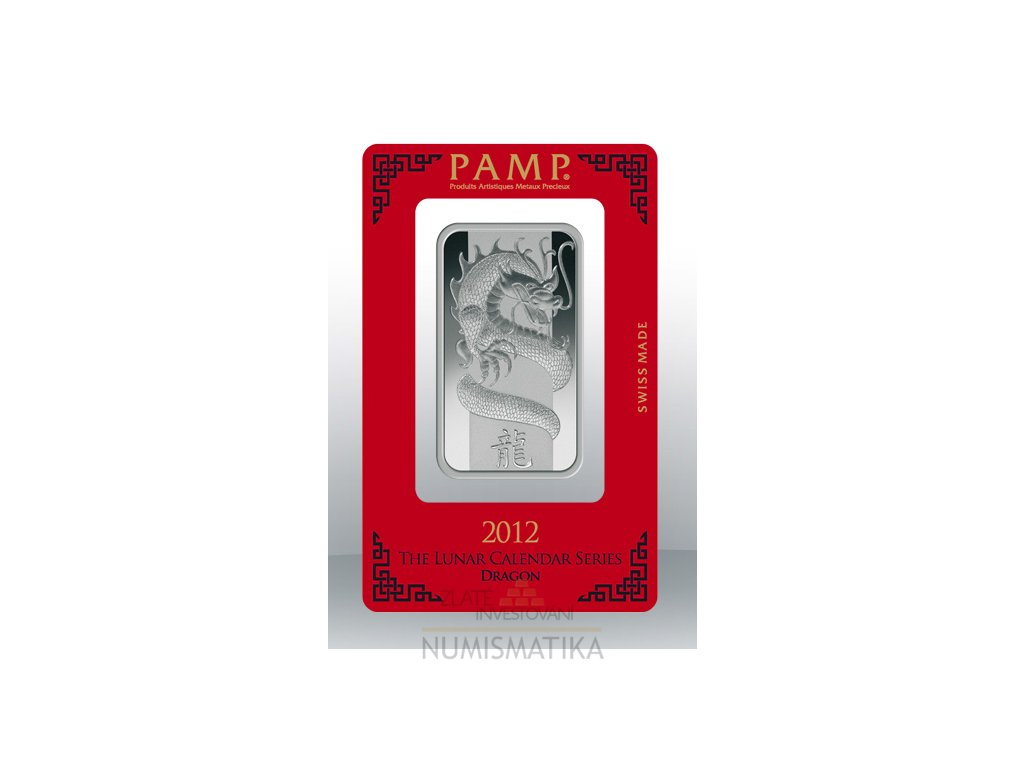 Investiční stříbrný slitek PAMP Rok draka 2012 1 Oz
