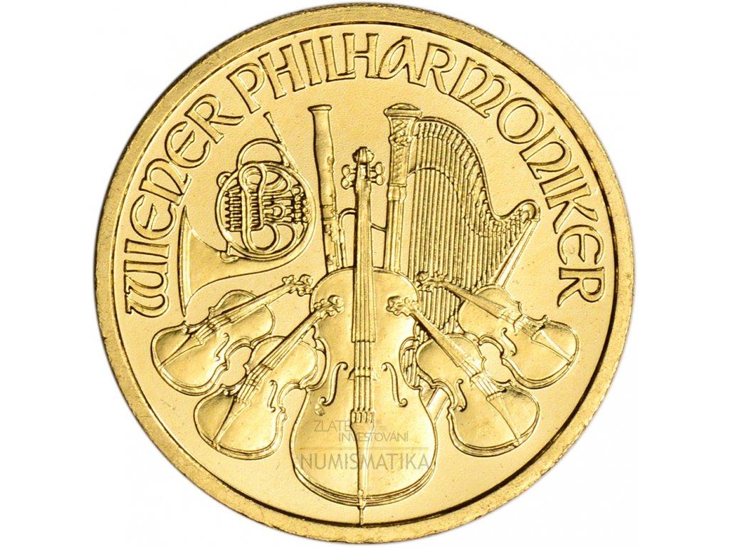 Investiční zlatá mince Philharmoniker 1/4 Oz