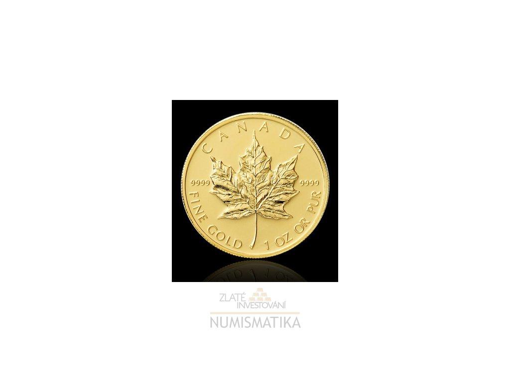 Investiční zlatá mince Kanadský Maple Leaf 1 Oz
