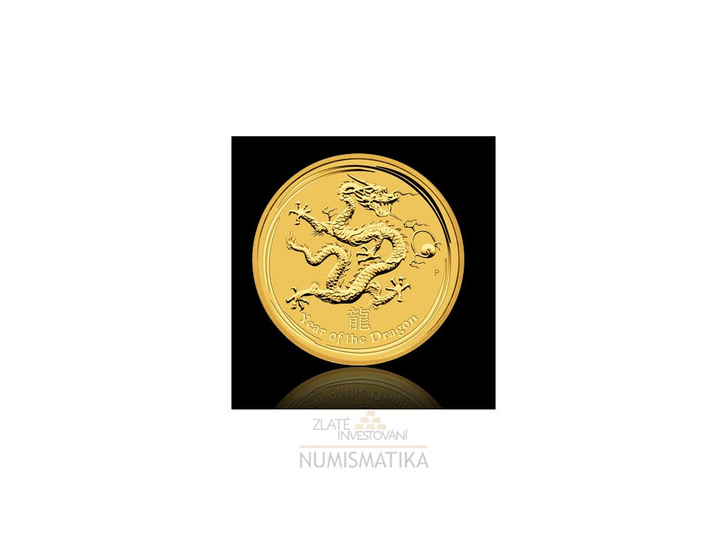 1961 investicni zlata mince rok draka 2012 lunarni serie ii 1 4 oz