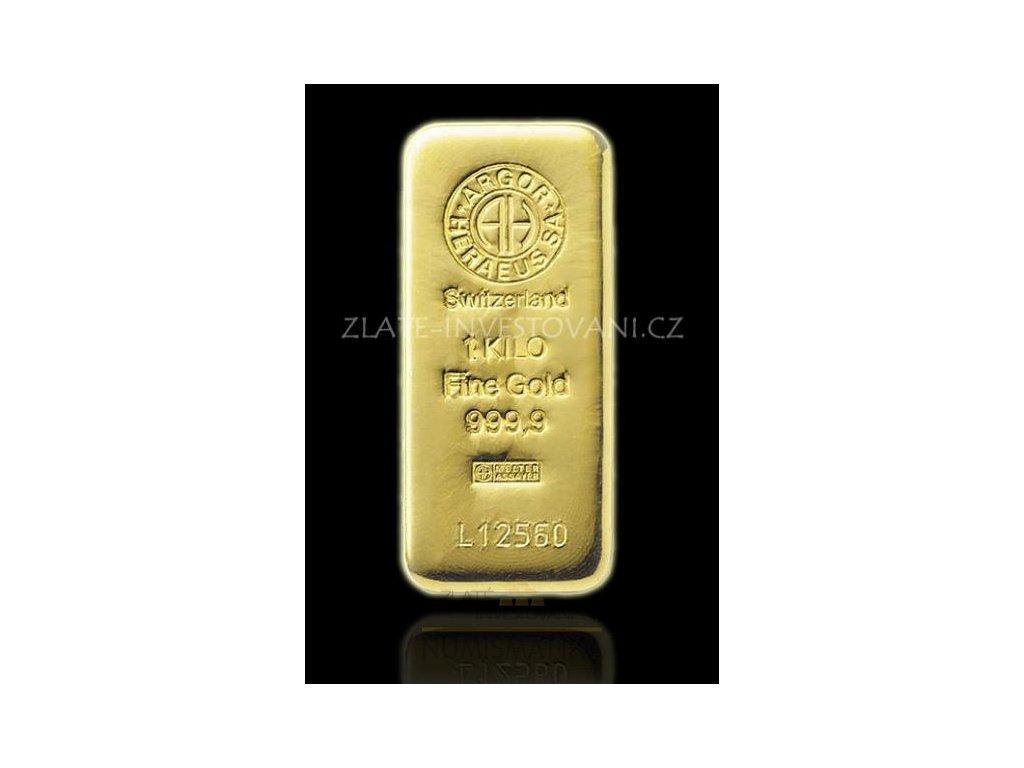 Investiční zlatý slitek Argor Heraeus 1000g