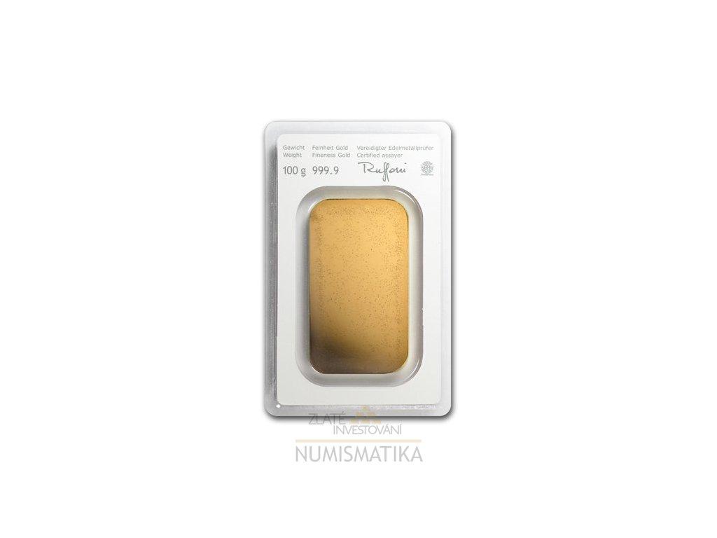 Investiční zlatý slitek Münze Österreich 100g