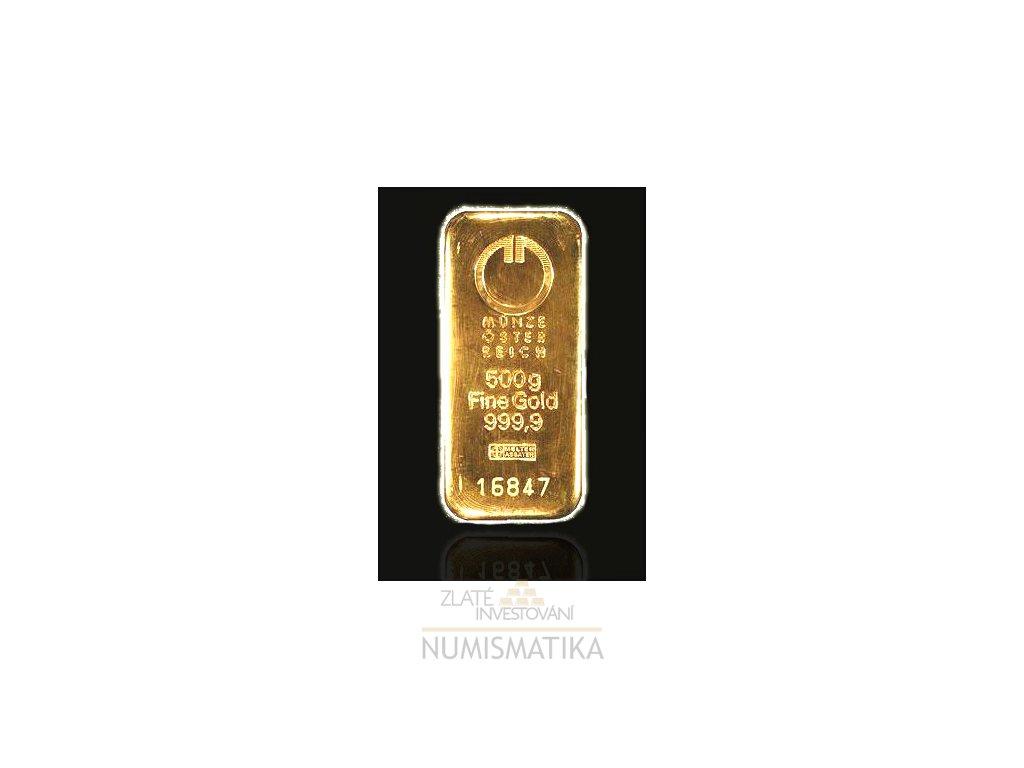 2066 investicni zlata cihla munze osterreich 100g