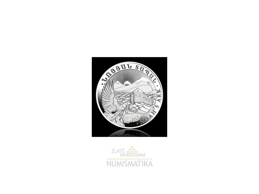 Investiční stříbrná mince arménská Archa Noemova 1 Oz
