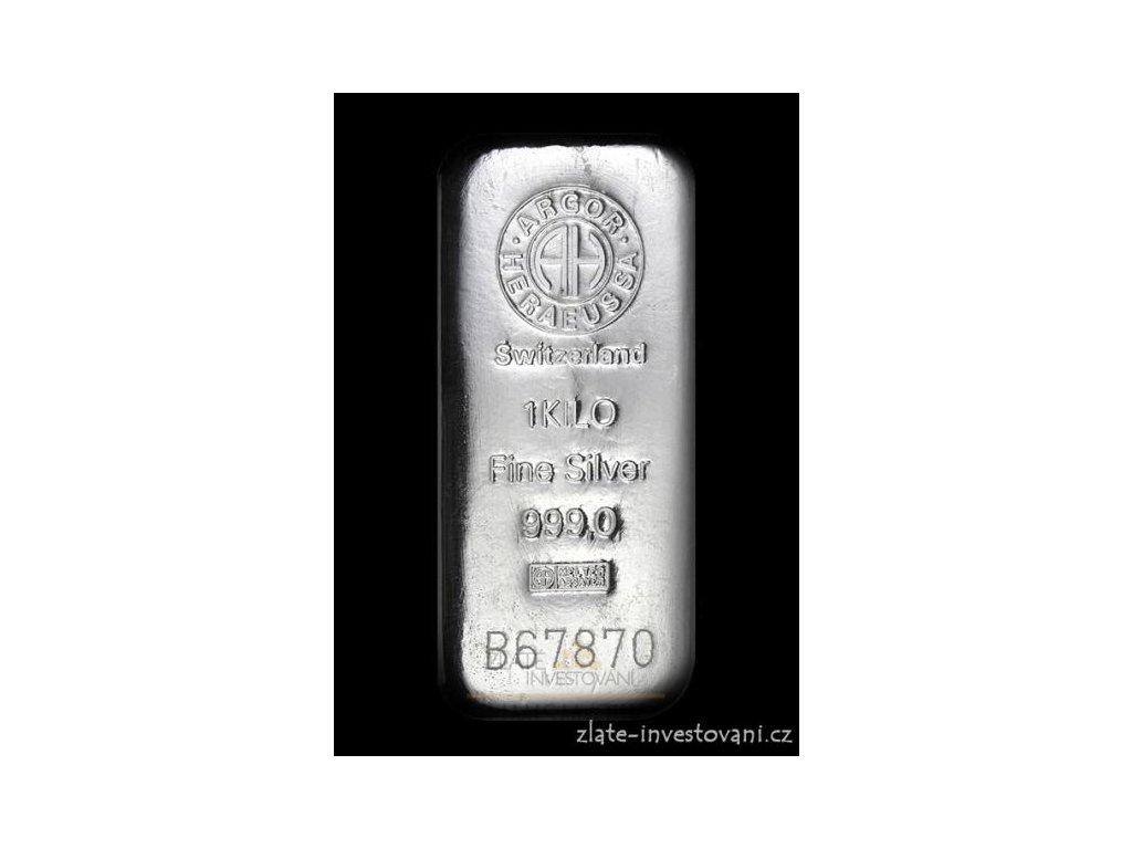 Investiční stříbrný slitek Argor Heraeus 1000g