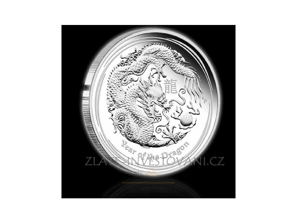 2168 investicni stribrna mince rok draka 2012 2 oz