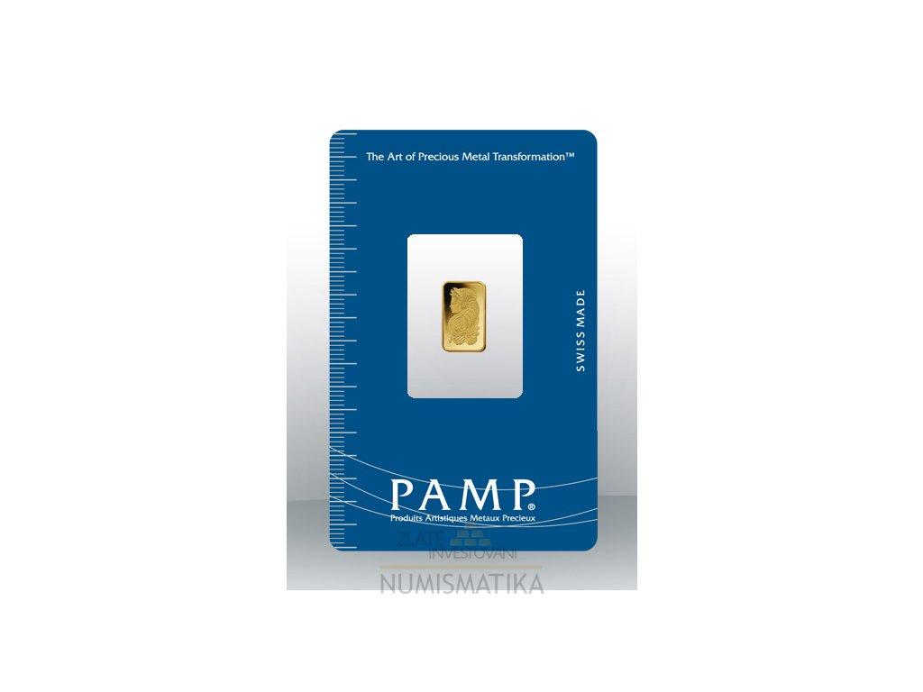 Investiční zlatý slitek PAMP Fortuna 1g