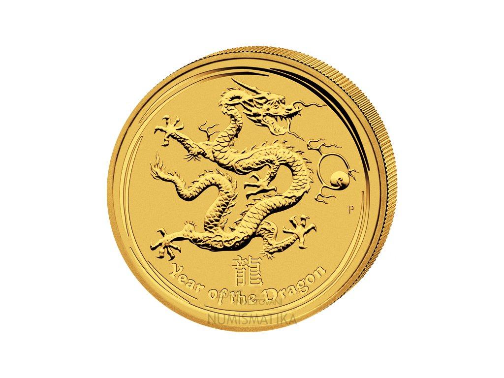 Investiční zlatá mince rok draka 2012 1/20 Oz