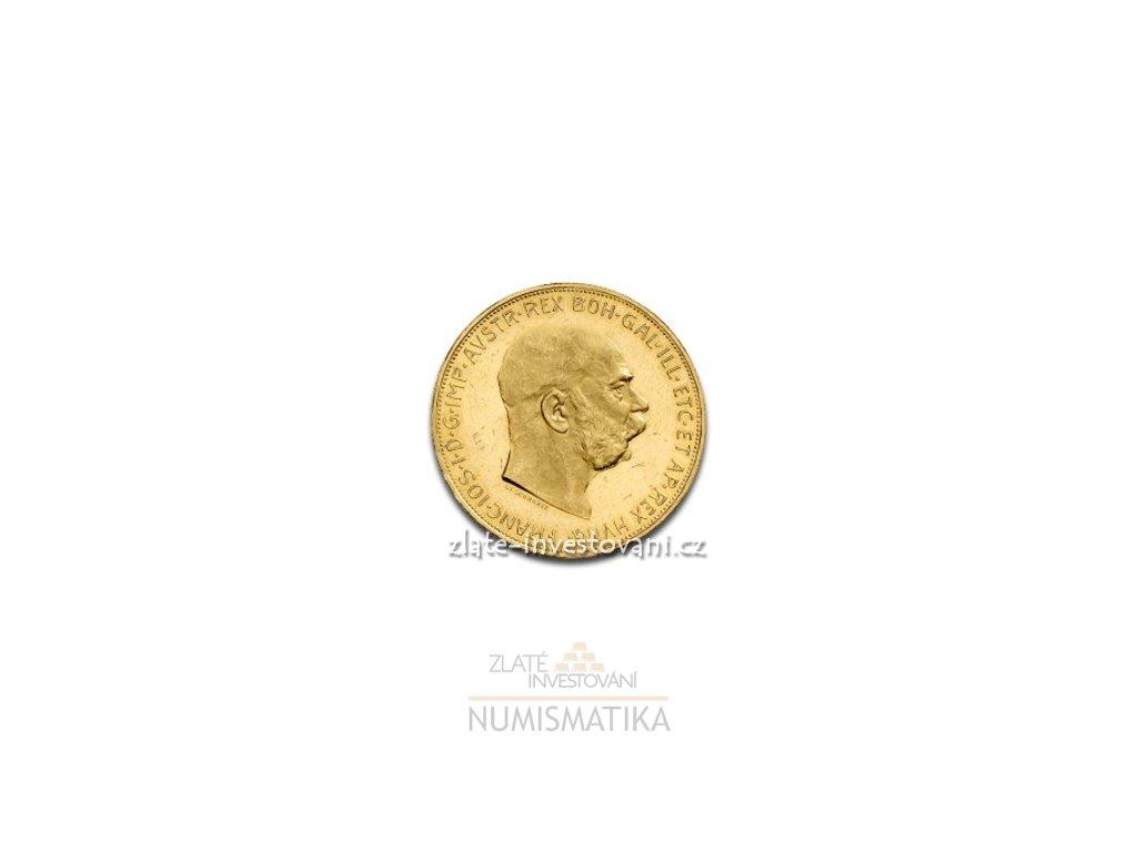 Zlatá mince Stokoruna Františka Josefa I.-novoražba