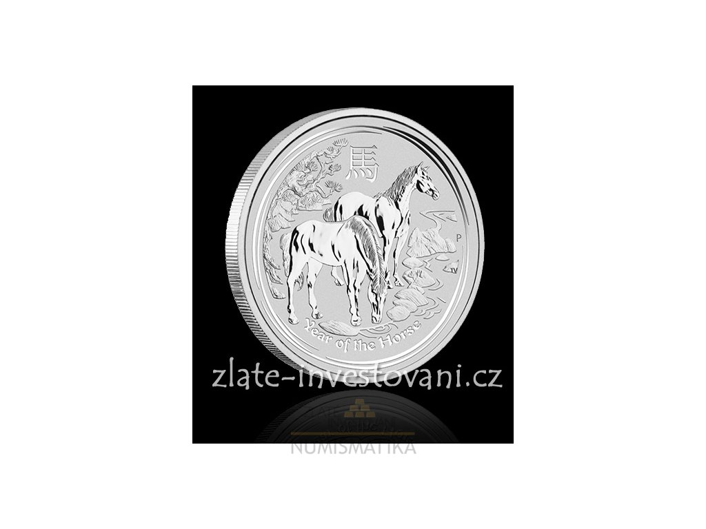 2729 investicni stribrna mince rok kone 2014 2 oz