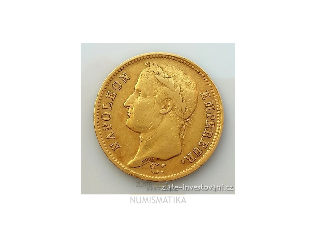 2831 zlata mince francouzsky ctyricetifrank napoleon