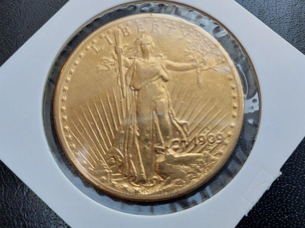 2855 investicni zlata mince americky double eagle 1910 saint gaudens double eagle