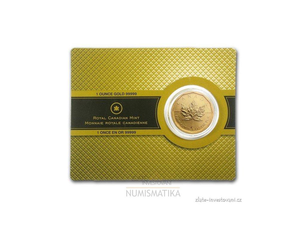 Investiční zlatá mince kanadský Maple leaf- 2009 1 Oz