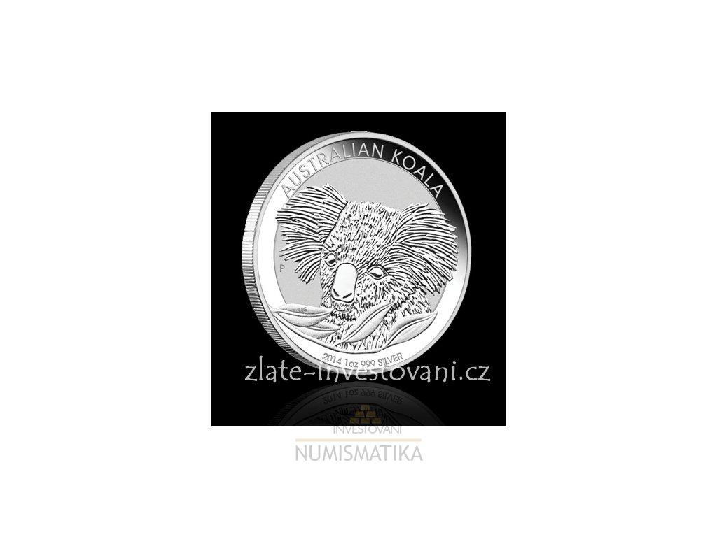 2912 investicni stribrna mince koala 2014 1 oz
