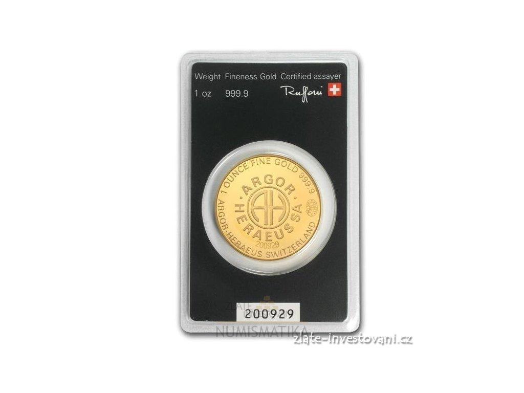 2969 investicni zlaty slitek argor kulaty kinebar 1 oz