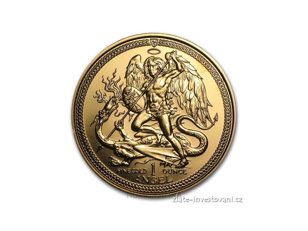 Investiční zlatá mince Angel-Isle of Man 1 Oz