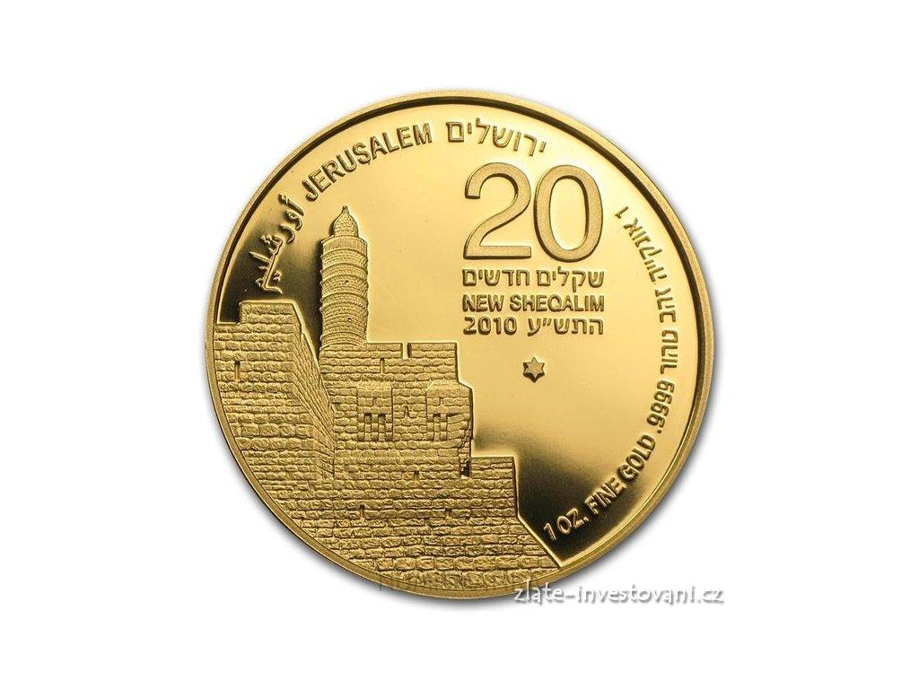 3029 investicni zlata mince vez davidova izrael 2010 1 oz
