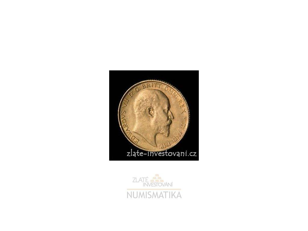 3035 investicni zlata mince britsky pul sovereign edward vii 1902 1910