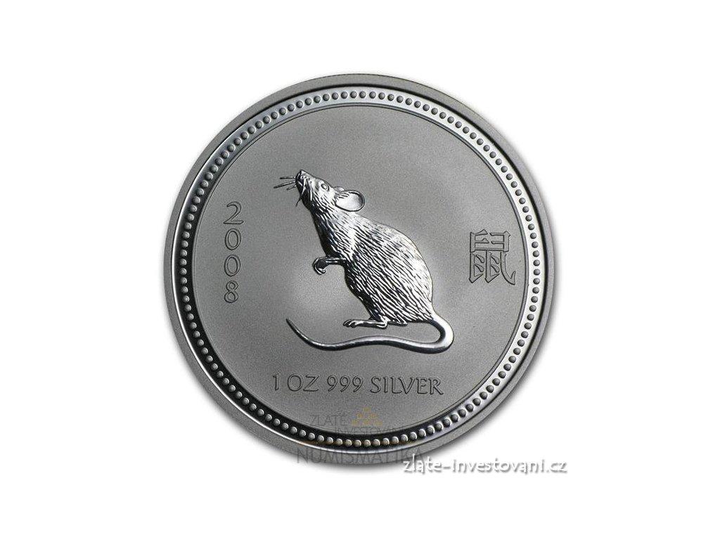 Stříbrná mince rok myši 1 Oz