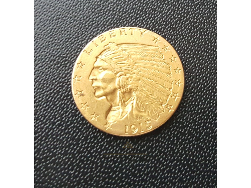 3182 zlata mince americky quarter eagle indiansky nacelnik 2 5 dollar 1908