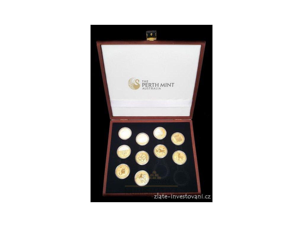 3233 sada zlatych minci lunarne serie cinskeho kalendare ii 10 minci 1 oz