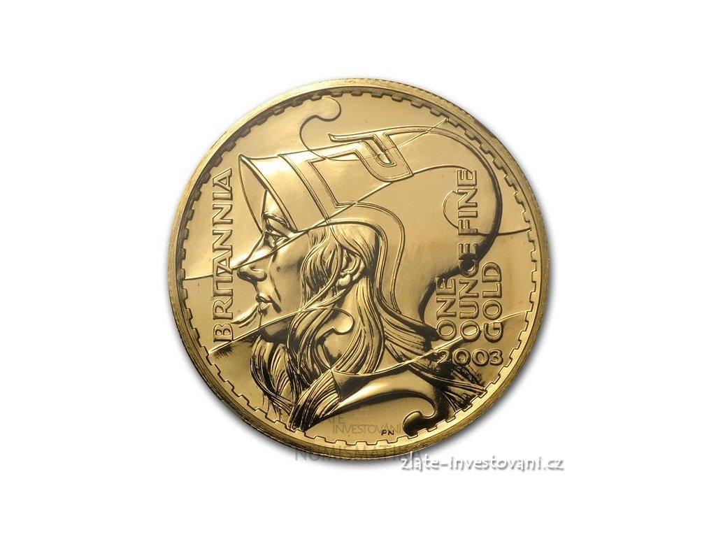 3335 investicni zlata mince britannia 2003 1 oz
