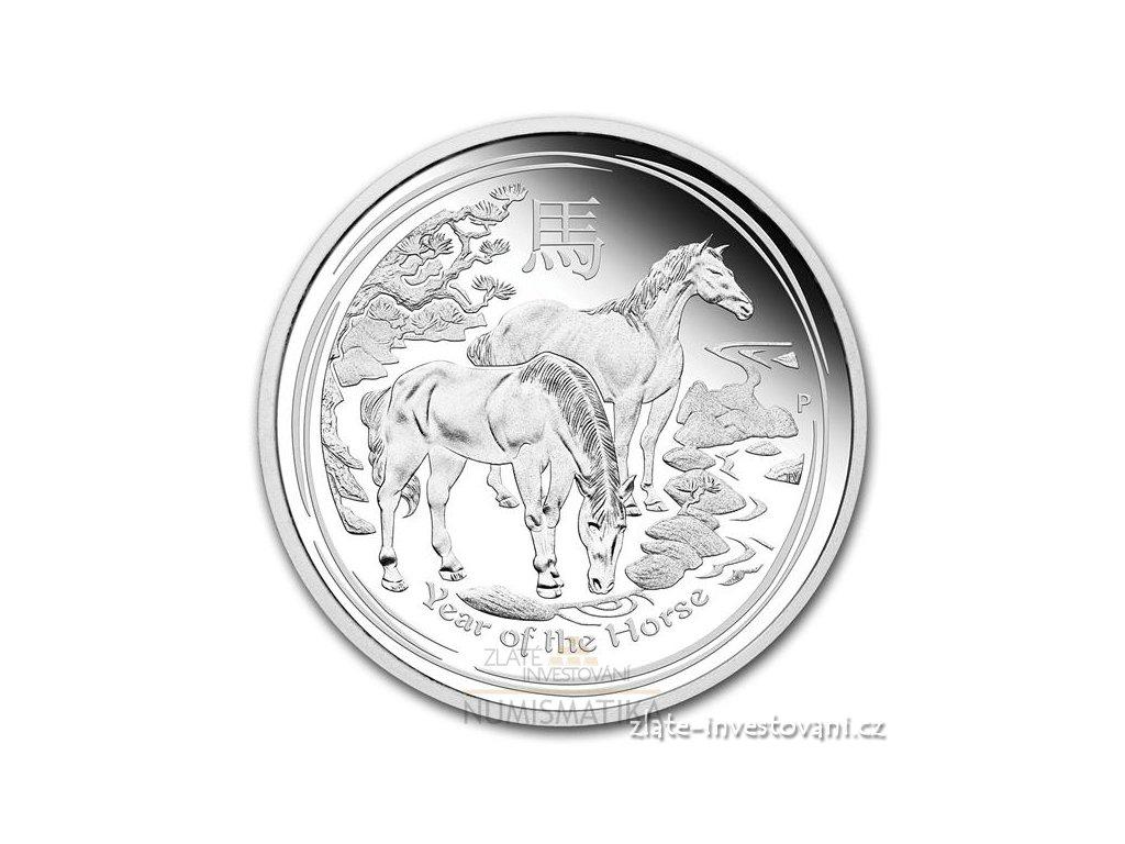 3356 stribrna mince rok kone 2014 lunarni serie ii