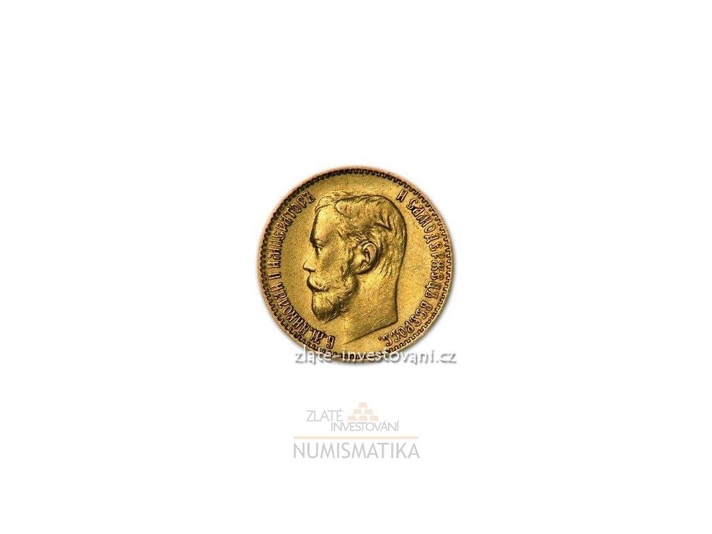 3386 zlata mince rusky petirubl car nikolaj ii 1900