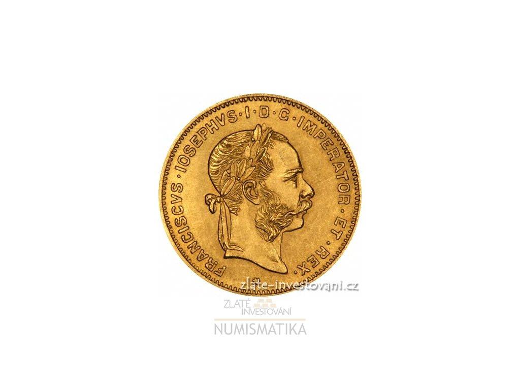 15a27a120 Investiční zlatá mince čtyřzlatník-4 gulden Rakousko 1892 - ZI ...