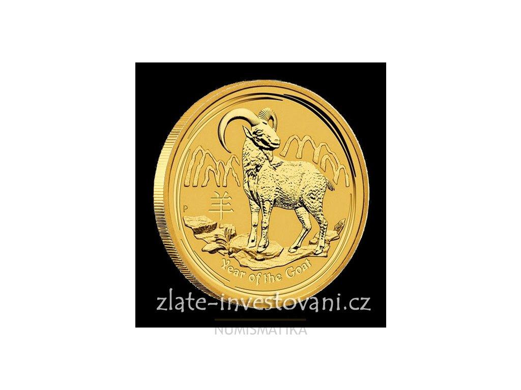 Investiční zlatá mince rok Kozy 2015 1/20 Oz