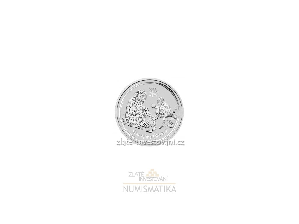 3557 investicni stribrna mince rok opice 2016 10 oz