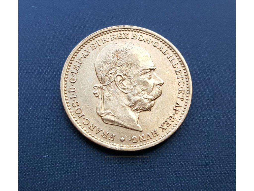 Zlatá  20 koruna František Josef I. 1897 Bz