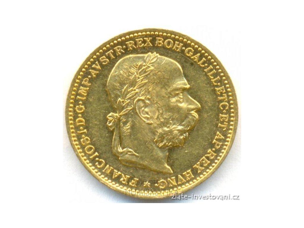 Zlatá mince Dvacetikoruna Františka Josefa I. rakouská ražba 1892-stav 0/0 RL