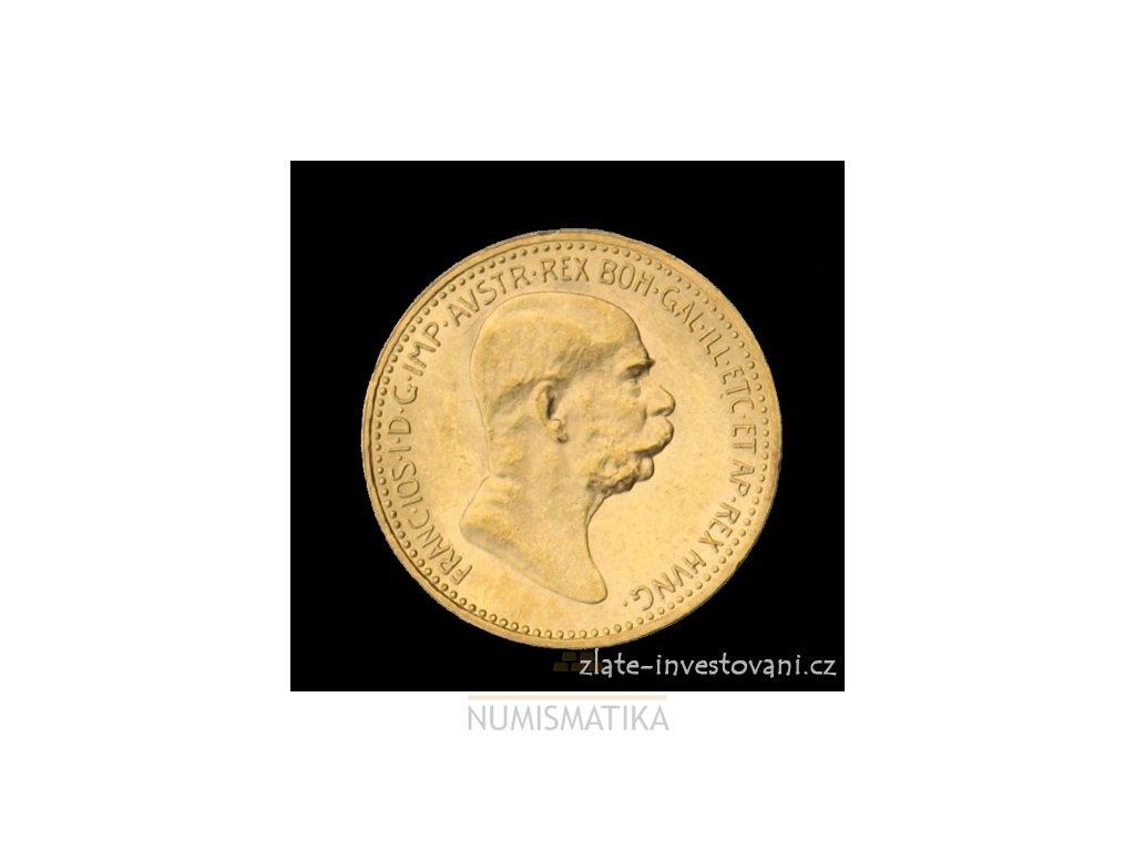 3716 zlata mince desetikoruna frantiska josefa i rakouska razba 1909 mala hlava