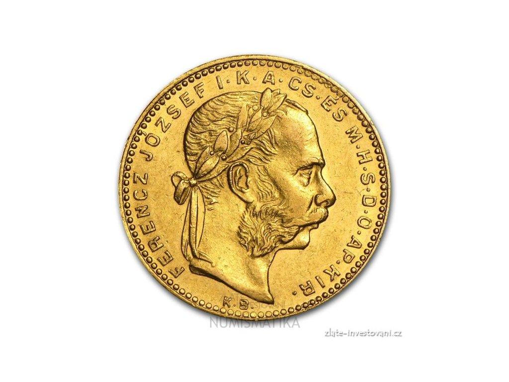 Zlatá mince Osmizlatník Františka Josefa I.-uherská ražba 1873