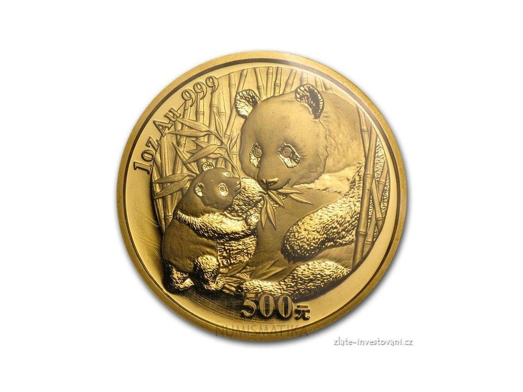 3794 investicni zlata mince cinska panda 2005 1 oz