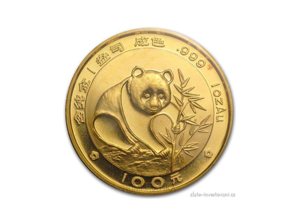 3812 investicni zlata mince cinska panda 1988 1 oz