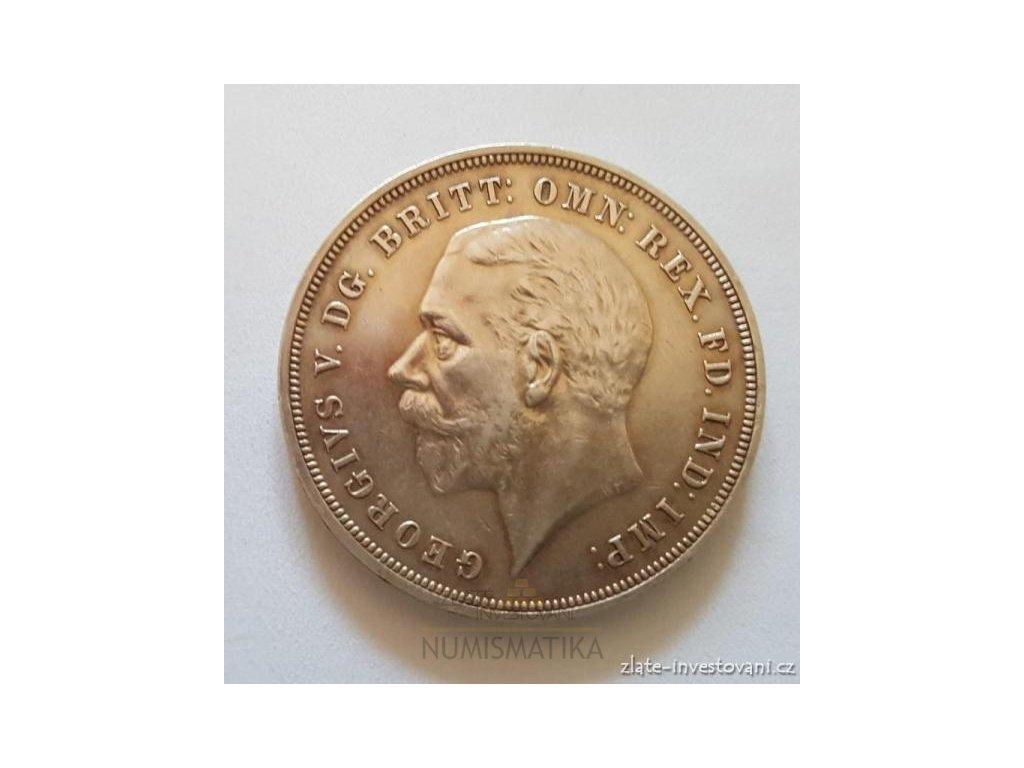 3935 stribrna britska koruna george v 1935 crown
